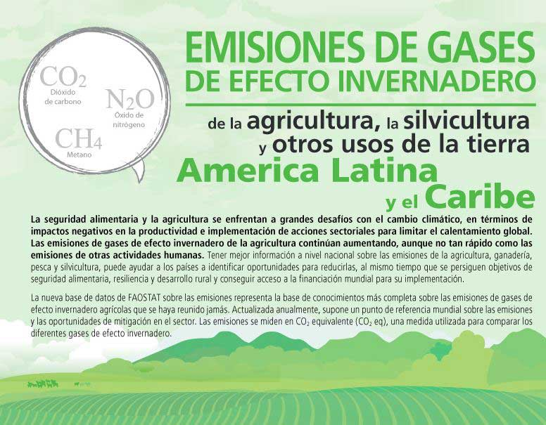 infografia de emisiones gases invernadero
