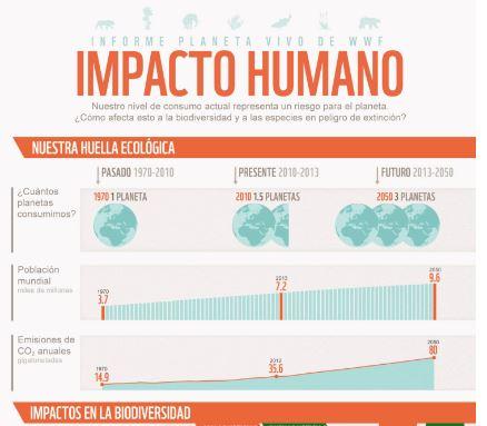 infografia impacto humano biodiversidad