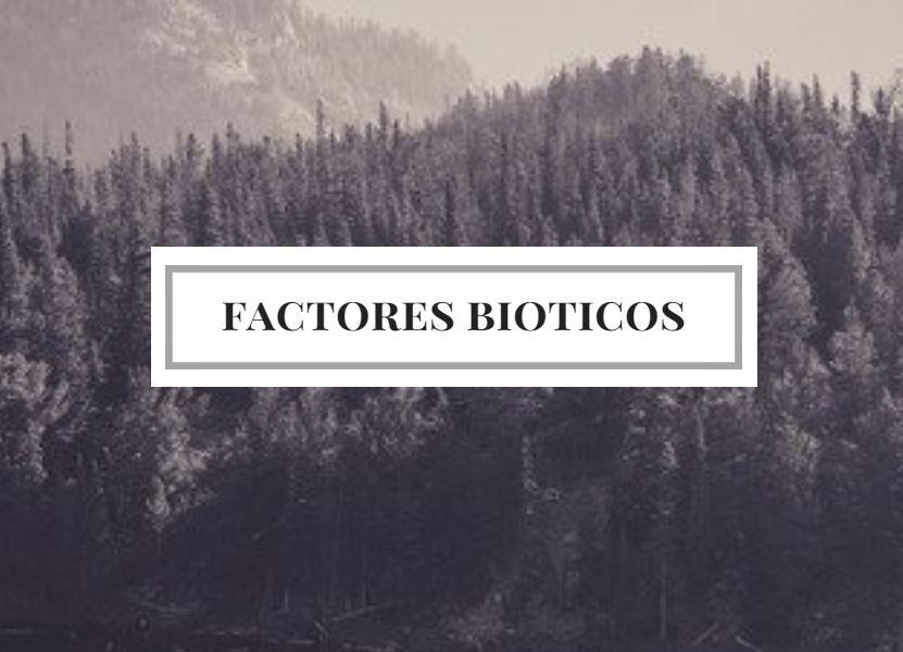 factor biótico