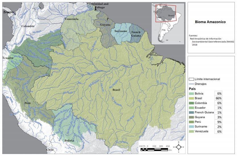 territorio superficie bioma amazónico